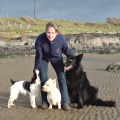Maureen Byrne, canine psychologist with her dogs.